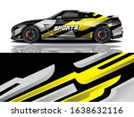 sports car wrapping decal design | Shutterstock .eps vector #1638632116