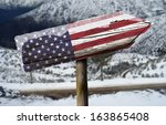 american wooden sign with a