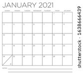 january 2021 square month wall... | Shutterstock .eps vector #1638666439