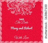 wedding invitation card with...   Shutterstock .eps vector #163867100