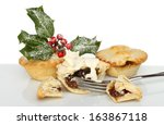 Mince Pies With Cream And A...