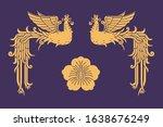 'bonghwang' and 'mugunghwa' ... | Shutterstock .eps vector #1638676249