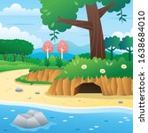 cartoon river in the forest....   Shutterstock .eps vector #1638684010