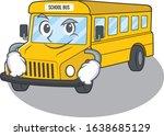 cool school bus mascot... | Shutterstock .eps vector #1638685129