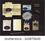 stationery retro | Shutterstock .eps vector #163870640