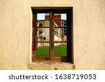 Old Solid Wood Windows In The...