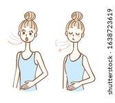 woman taking a deep breath | Shutterstock .eps vector #1638723619