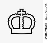 crown icon in trendy flat style ...