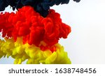 Germany Flag Made Of Color Ink...