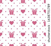 vector seamless pattern happy... | Shutterstock .eps vector #1638751789