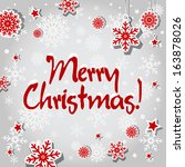 merry christmas card or... | Shutterstock .eps vector #163878026