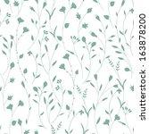seamless floral pattern. vector ... | Shutterstock .eps vector #163878200