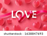 love and valentine's day poster ... | Shutterstock .eps vector #1638847693
