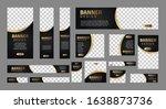 set of luxury banners in... | Shutterstock .eps vector #1638873736