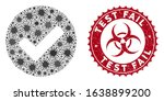 coronavirus mosaic yes tick...