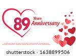 89 years anniversary logo... | Shutterstock .eps vector #1638899506
