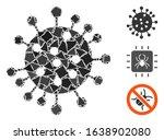 glowing white mesh sars virus...   Shutterstock .eps vector #1638902080