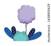 tree bush leaves vegetation...   Shutterstock .eps vector #1638905629