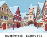 Christmas Town Street At Winte...