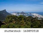Mountain view of Rio de Janeiro, Brazil - stock photo