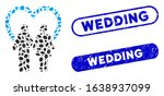 mosaic marriage and grunge... | Shutterstock .eps vector #1638937099