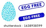mosaic egg and grunge stamp... | Shutterstock .eps vector #1638938599