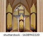 Old Big Organ In The Church.