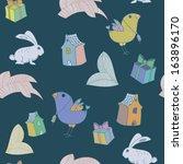 bird and rabbit background | Shutterstock .eps vector #163896170