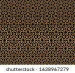 anatolian seljuk motif. islamic ... | Shutterstock .eps vector #1638967279
