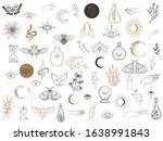 vector witch magic design... | Shutterstock .eps vector #1638991843