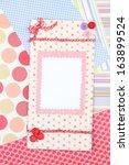 beautiful hand made post card... | Shutterstock . vector #163899524