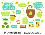 zero waste recycle hand drawn...   Shutterstock .eps vector #1639001080