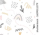 hand drawn decorative abstract... | Shutterstock .eps vector #1639011379