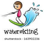 illustration of a stick man... | Shutterstock .eps vector #163902236