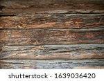 Old Wooden Timbered Wall Of A...