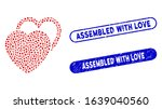 collage love hearts and grunge... | Shutterstock .eps vector #1639040560