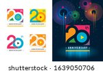 set of 20th anniversary... | Shutterstock .eps vector #1639050706