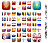 flags of europe icons for the... | Shutterstock . vector #163908989