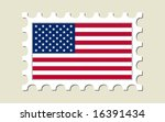 Usa Flag Stamp   Vector