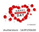 happy valentine's red petals... | Shutterstock .eps vector #1639150630