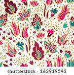 seamless floral pattern | Shutterstock .eps vector #163919543