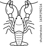 Crawfish farming in Louisiana State. Vector outline icon.