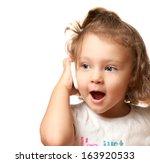 Happy Baby Girl Talking On...