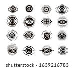 evil eyes collection.... | Shutterstock .eps vector #1639216783