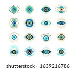 evil eyes collection....   Shutterstock .eps vector #1639216786