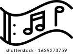 music   study subject icon set. ...