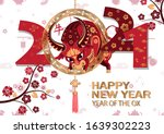 chinese new year 2021... | Shutterstock .eps vector #1639302223