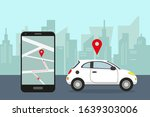 car sharing service concept....   Shutterstock .eps vector #1639303006