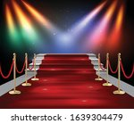 red carpet and golden barriers... | Shutterstock .eps vector #1639304479
