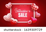 happy valentines day sale...   Shutterstock .eps vector #1639309729